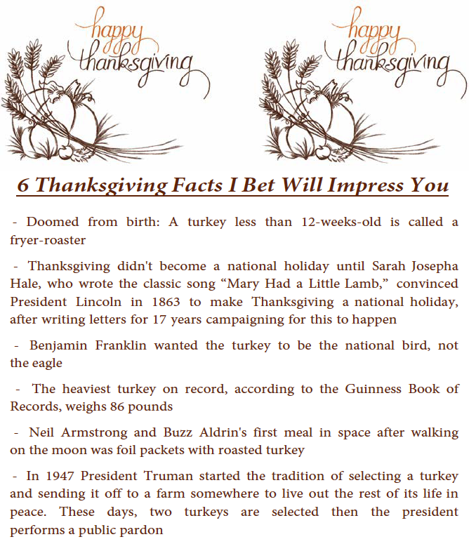 thanksgiving - KLA Industries, Inc